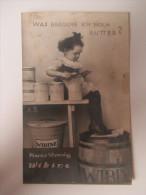 """AK / Bildpostkarte 1929 Alte Werbung / Kunsthonig Wibine """"Was Brauche Ich Noch Butter?"""" Kind / Fass / Magdeburg - Werbepostkarten"""