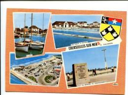 CP -  COURSEULLES SUR MER (14) Carte Souvenirs - France