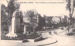 RARE SIDE BEL ABBES RUE PRUDHOMME ET MONUMENT DU SOUVENIR / ALGERIE