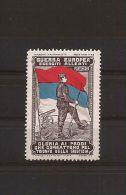 MILITARE WWI GUERRA EUROPEA ESERCITI ALLEATI MONTENEGRO 1915 MARCHE NAZIONALISTE - Cinderellas