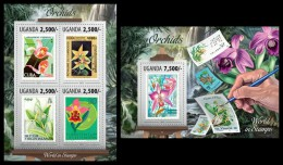 UGANDA 2013 - Orchids. World In Stamps M/S + S/S. Official Issue - Orquideas