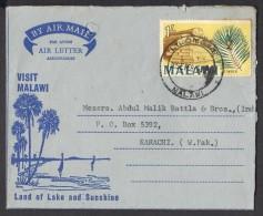 Timber, Visit Malawi, Mount Mlanje, Postal History Aerogramme Cover From MALAWI 30.9.1968 - Malawi (1964-...)