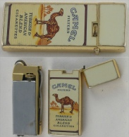 Briquet Camel Rechargeable—Sharp—Années 80 - Accendini
