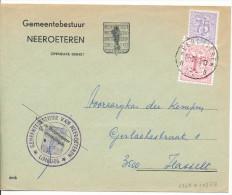 197? Omslag Van Gemeentebestuur Neeroeteren PZ1027B+1369 Naar Hasselt Zie Scan(s) - 1951-1975 Lion Héraldique