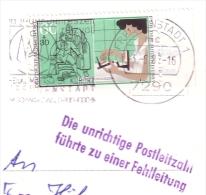 BRD Beleg 1316 Von 1987 Mit Werbe/Rundstempel Von Freudenstadt 1 Auf Ansichtskarte Dorotheenhütte Wolfach/Schwarzwald - Briefe U. Dokumente