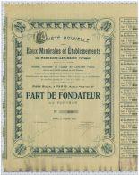 Eaux Minerales Et Ets De Martigny Les Bains, Vosges - Eau