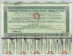 Cie Fermiere De L'Ets Thermal De Vichy (blanquette, Tachée) - Eau
