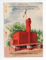 932F) EXPOSITION  1937 - PAVILLON DES TABACS  - CARTE A SYSTEME - Documents