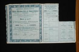 France Bon Cinquante Fr  Paris Expo Arts Déco 1925 Chemin De Fer Ancenis - Tourisme