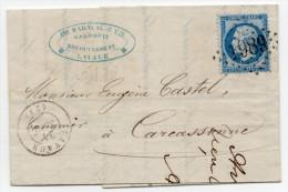 N°22 Sur Lettre Obliteration GC1989  LAVAUR  77 - 1862 Napoleon III