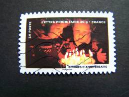 FRANCE OBLITERE 2012 N° 762   BOUGIES D´ANNIVERSAIRE FETE DU TIMBRE: LE FEU SERIE DU CARNET AUTOCOLLANT ADHESIF - France