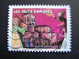 OBLITERE FRANCE ANNEE 2011 N°575 FETES ET TRADITIONS DE NOS REGIONS NUITS ROMANES EN POITOU CHARENTES - France
