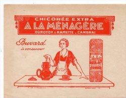 ZE-BUVARD-Chicorée Extra--A LA MENAGERE--DUROYON & RAMETTE-CAMBRAI - Buvards, Protège-cahiers Illustrés