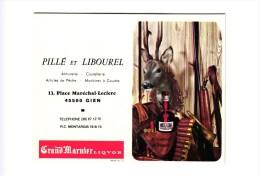 PUB ARMURERIE DE GIEN . GRAND MARNIER CARNET DE CHASSE   REF 36595 - Vecchi Documenti
