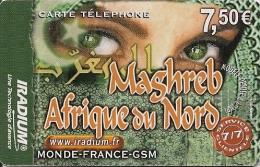 CARTE PREPAYEE-IRADIUM-7.5 €-MAGHREB-AFRIQUE NORD-YEUX-31/12/2006- T BE- - Autres Prépayées