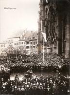PHOTO #2  LIBERATION MULHOUSE ALSACE CEREMONIE PLACE EGLISE 1945 ??