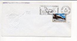 "1977 T A A F - Flamme Sécap ""Otarie"",Martin De Vivies,Saint Paul Amsterdam Sur N° 58, Blason à Sec + Voir Cachets Verso - Französische Süd- Und Antarktisgebiete (TAAF)"