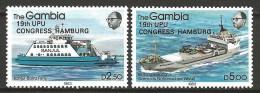 Gambia 1984 Mi 529-30  MNH  SHIPS UPU - Boten