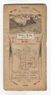"""Carte Géographique Routière Et Touristique  """" CARTE  MICHELIN """"  N° 36  ( MENDE-VALENCE ) , édition 1921 - Cartes Routières"""