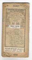 """Carte Géographique Routière  """" CARTE  MICHELIN """"  N° 16   ( TROYES ) , édition 1912  ( Pub Automobile RENAULT ) - Cartes Routières"""