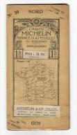 """Carte Géographique Routière  """" CARTE  MICHELIN """"  N° 20   ( GIEN-AUXERRE ) , édition 1912  ( Pub Automobile RENAULT ) - Cartes Routières"""