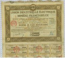 Union Electrique Et Miniere Franco Belge UNIFRABEL - Electricité & Gaz