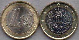 Kursmünze 1 EURO San Marino 2006 Stg. 28€ Münze Der Staatlichen Münze Mit Staats-Wappen Zu 1€ Einzeln Coin Of Republik - San Marino