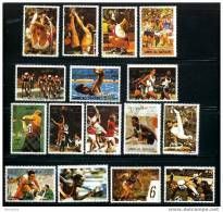 UMM AL QIWAIN History Of The Olympic Games 16 Stamps Action Photos Used - Olympische Spiele