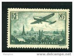 FRANCE POSTE AÉRIENNE Yv 8 *  Avion Survolant Paris - 1927-1959 Ungebraucht
