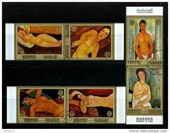 MANAMA Modigliani Nudes Set Of 6 Large Format Used - Nudes