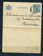 Sweden 1920 Postal Letter Card Scottorp- Stockholm - Suède
