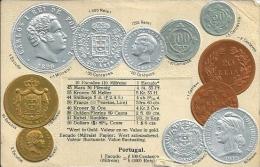 Postcard (Coins) - Portugal Escudo - Monnaies (représentations)