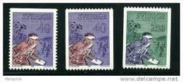 SUEDE 1968  Orientering 3 Valeurs **  Mi Nr 616-7 - Neufs