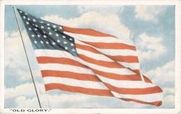 OLD GLORY FLAG DRAPEAU UNITED-STATES U.S.A. - Postcards