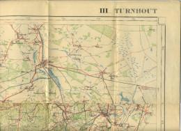 Turnhout  :  Oude Militaire Staff Kaart    (  Formaat  97   X   68 Cm ) - Turnhout