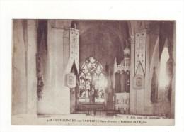 Cpa Coulonges Sur L'autize  Interieur De L'église - Coulonges-sur-l'Autize