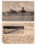 955F) - LOT DE 2 CPA PONT ST ESPRIT - Pont-Saint-Esprit