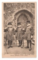 CP, TOWER OF LONDON, YEOMAN WARDERS IN STATE DRESS, Vierge - Uniformes