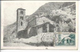 Y&T 103/dallay 105 S.s/cp Concordante St-Jean-de-Caselles Oblitération Agence Postale Canillo 1945 - Storia Postale