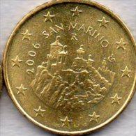 Kursmünze 50 Cent San Marino 2006 Stg. 7€ Der Staatlichen Münze Mit Wehrturm La Fratta Zu 0,50€ Einzeln Coin Of Republik - San Marino