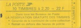 Carnet  Liberté De  Gandon -10 Tp à 2,20F-La Réservation Des Timbres N° 2376--C9 Coté 42 Eu - Usage Courant