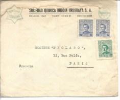 """Uruguay Enveloppe""""sociedad Quimica Rhodia Uruguaya S.A."""" (Rhodia Specia) Montévidéo - Uruguay"""