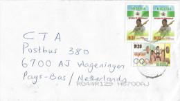 Nigeria 2000 Elections Democracy N30 Weightlifting Olympic Games Sydney N20 Cover - Nigeria (1961-...)