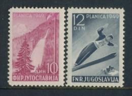 BL4-150 YOUGOSLAVIA 1949 SPORT, SKI CHAMPIONSHIPS PLANICA. MNH, POSTFRIS, NEUF**. - Athlétisme