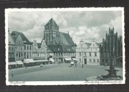 Germany  AK Greifswald Mecklenburg Vorpommern  Marktplatz Mit Marienkirche  Unused - Greifswald