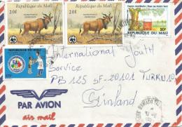 Mali 1995 Bamako WWF Derbia Antilope 20f Vaccination Program Energy Environment Cover - W.W.F.
