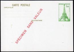 B-005H- Carte Postale N° 429-CP1, Neuve, Spécimen Sans Valeur. - Postal Stamped Stationery