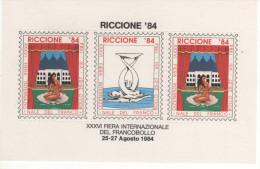 22393 Erinnofilo Foglietto XXXVI Fiera Internazionale Del Francobollo Riccione 84 - Blocchi & Foglietti