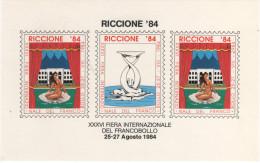 22398 Foglietto XXXVI Fiera Internazionale Del Francobollo Riccione 84 - Blocchi & Foglietti