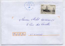 """2014--oblitération Néopost Sur Tp N° 752 """"Oeuvres De La Marine""""--année 1946-- Seul Sur Lettre--utilisation Tardive - Mechanical Postmarks (Other)"""
